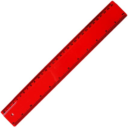 Plastic 30cm Ruler | Personalised Rulers and Stationery ...