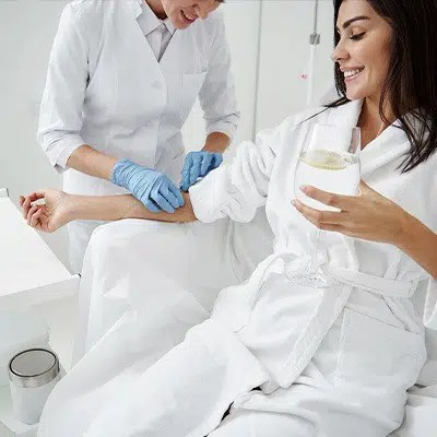 Women Getting IV Therapy