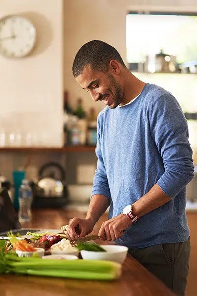 Man Preparing Healthy Food