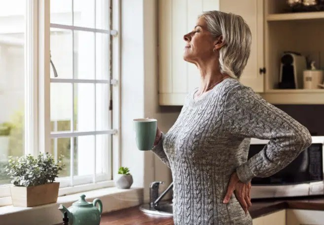 Woman feeling better during detox
