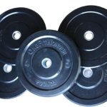 160 Lbs New Bumper Plates Set Olympic Plates Solid Plates Weight Plates for Crossfit Training Weight Lifting Gym By Onefitwonder