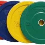 Troy VTX 230lb Colored Olympic Rubber Bumper Plates Weight Set for Crossfit
