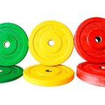 160 Lbs New Color Bumper Plates Set Olympic Plates Solid Plates Weight Plates for Crossfit Training Weight Lifting Gym By Onefitwonder
