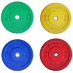 Solid Rubber Bumper Plates Color Set- 4 Pairs (total 230lb)
