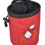 AMC Rock Climbing Panda Bear Design Chalk Bag w/ Drawstring Closure and Belt