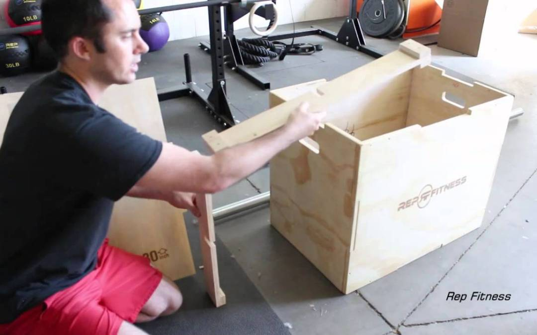 Rep 3 in 1 Wood Plyometric Box for Jump Training and Conditioning 30/24/20, 24/20/16, 20/18/16, 16/14/12