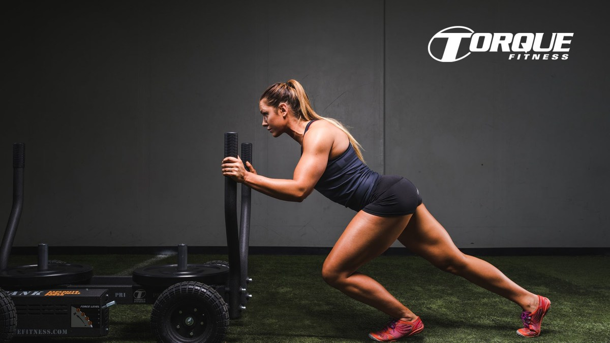 Torque Fitness TANK Power Sled on Wheels - Sled that does not destroy the Gym floor