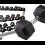 Body Solid GDR363-RFWS Dumbbell Rack with Rubber Dumbbells