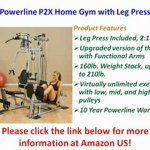 Powerline Home Gym with Leg Press, Grey/Black