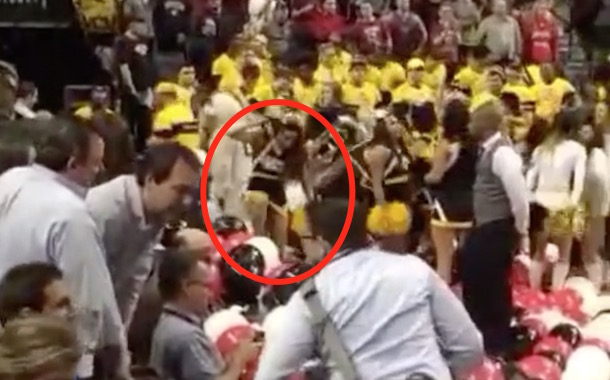 Angry VCU Cheerleader Stomps On A10 Championship Balloons