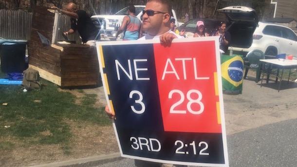Image result for atlanta pats 28-3 sign marathon