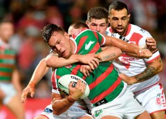 Sam Burgess double leads Souths to Dragons win