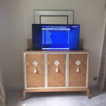 cabinet motorised tv mount