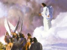 Isus pe norii cerului