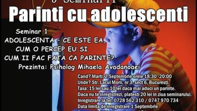Photo of Seminar pentru părinţi cu adolescenţi, la Bucureşti