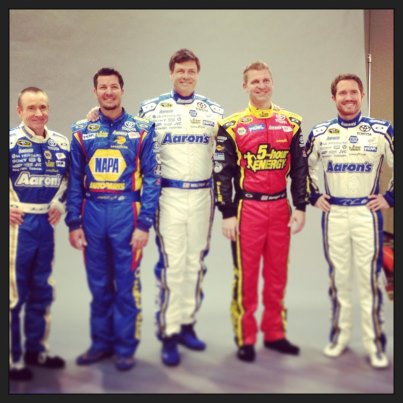 From the Michael Waltrip Racing Facebook page.