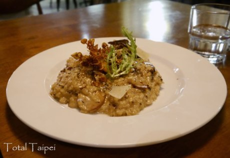 Risotto with mushrooms and truffles