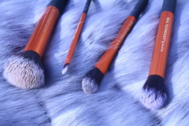 Bristles of the real technique core collection brushes