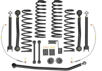 Rancho (RS66107B): 3-Inch Trail System for '07–'15 Jeep Wrangler JK