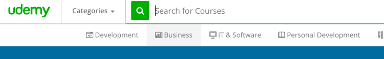 how to take a course on udemy - search for courses