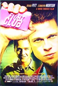 Man With Fight Club Poster Finds Perfect Frame For It