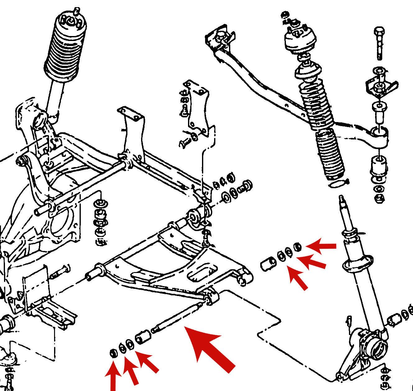 Datsun 240z 260z 280z Rear Suspension Spindle Rod Pin Kit