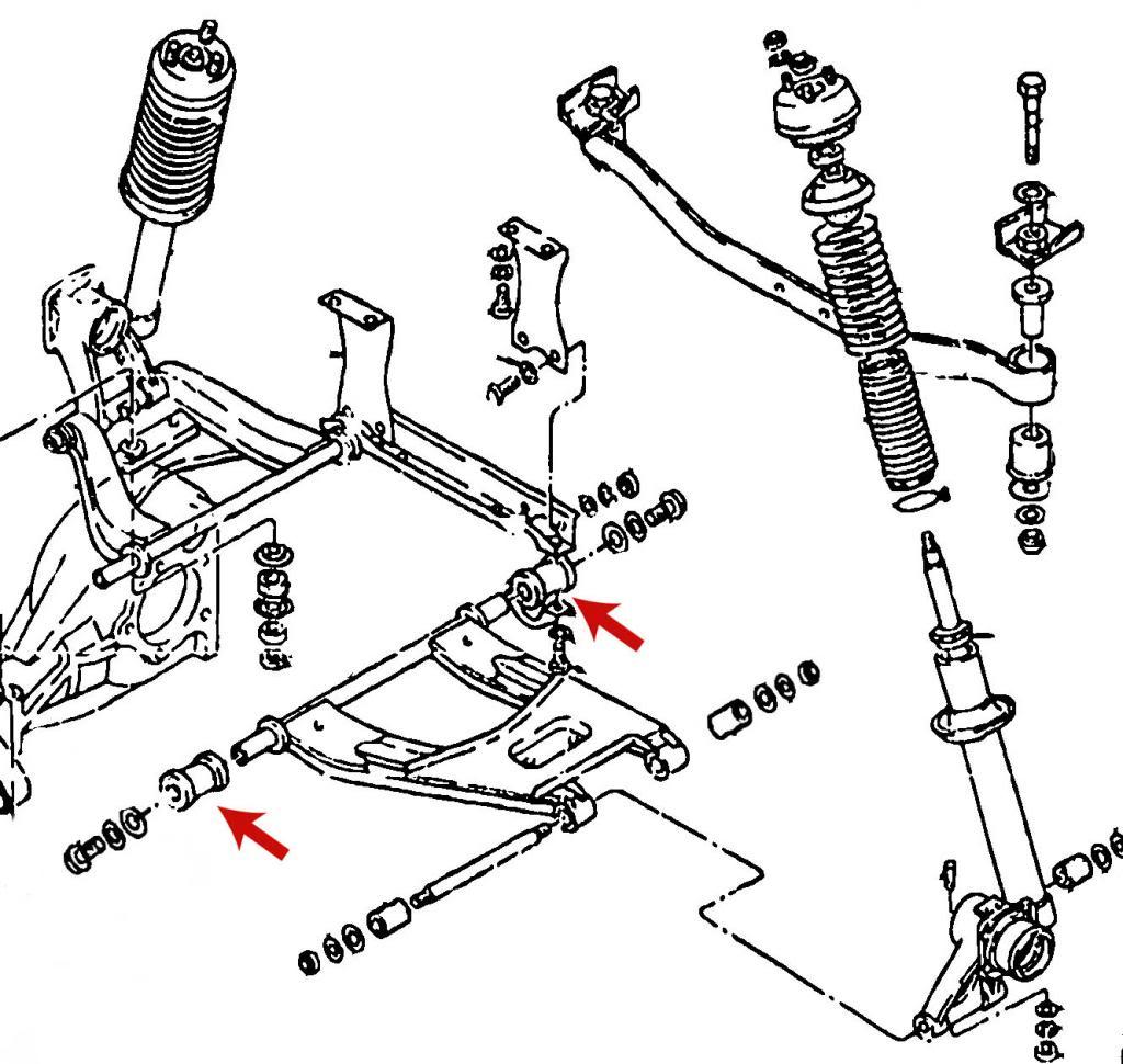 Datsun 240z 260z 280z Rear Suspension Inner Control Arm