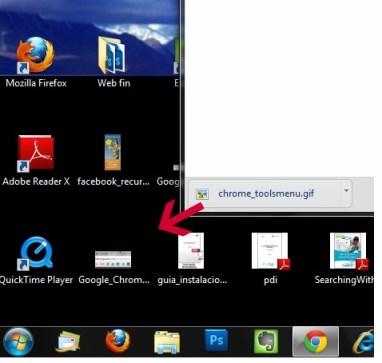 Arrastrar y Soltar Archivo de Chrome