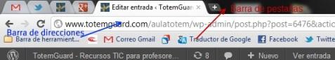 Nombre de barras en Chrome