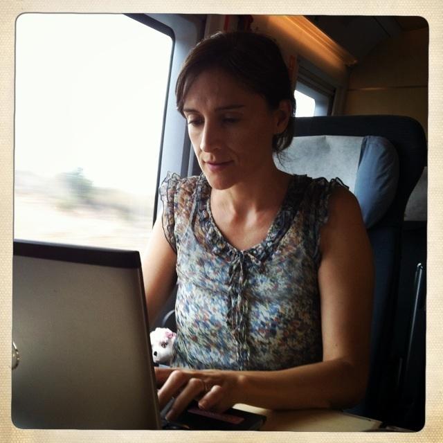 blogging offline en el tren meritxell viñas