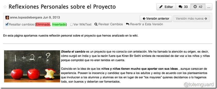 wikispaces revertir versiones anteriores