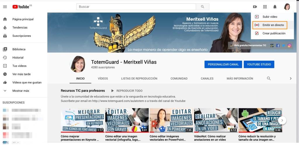 Youtube-live-emision-directo