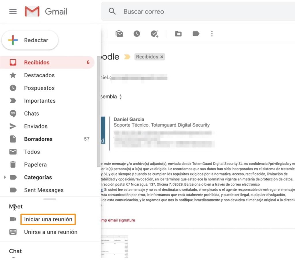 Gmail-google-meet-integracion