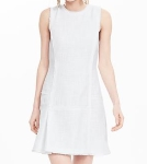 Debbie-Savage-White-Fit-And-Flare-Dress