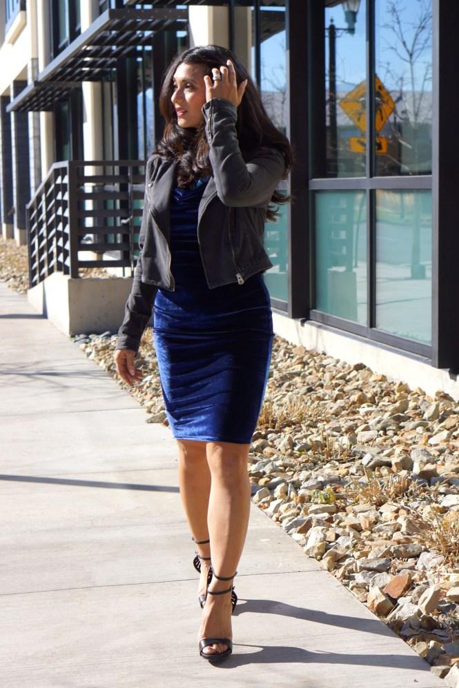 To Thine Own Style Be True | Blue Velvet Dress