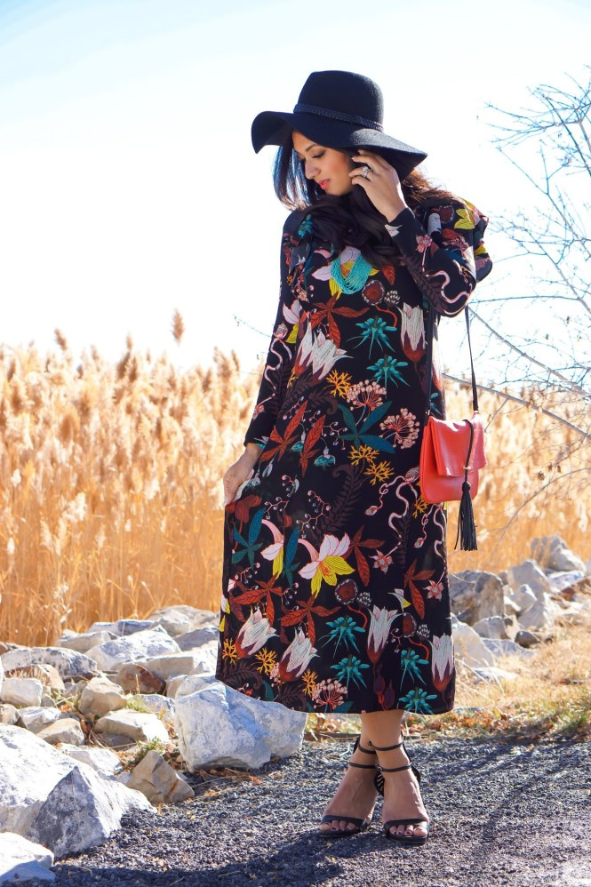 To Thine Own Style Be True | Black Florak H&M Dress