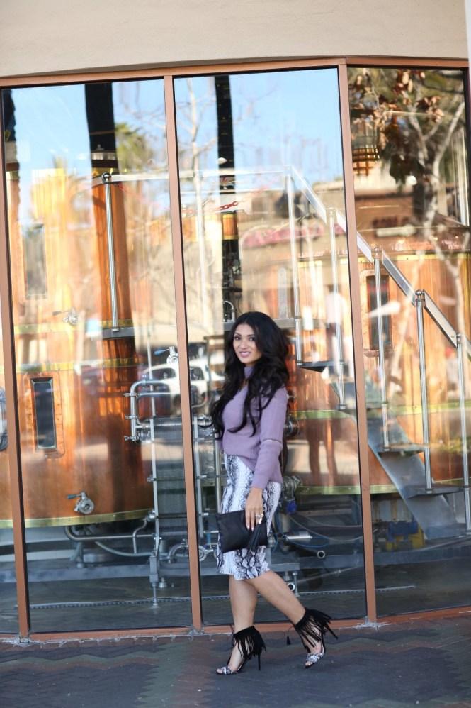 To Thine Own Style Be True | Debbie Savage | ROMWE | Purple Choker V-Neck Sweater