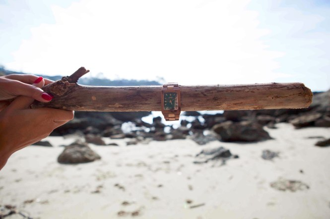Debbie Savage of To Thine Own Style Be True is sharing her love for Jord Wood Watches at Three Arch Bay in Laguna Beach, California