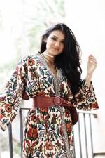 Petite and Curvy Fashion and Style Blog   SHEIN Tribal Print Jacket   Croco Print Purse   Black Fringe Boots
