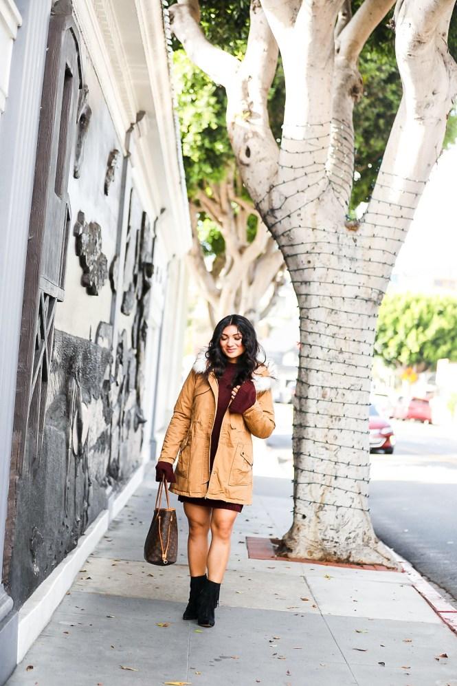 Debbie Savage | Fashion and Lifestyle Blog | TOBI Sweater Dress + Parka