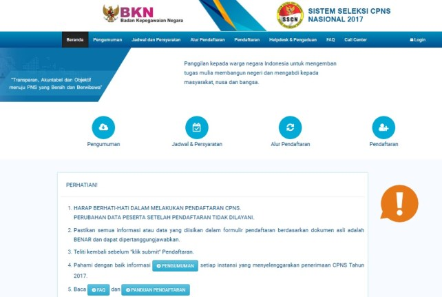 Pedoman Cara Pendaftaran dan Persyaratan CPNS 2018, syarat agar lulus seleksi administrasi CPNS 2018