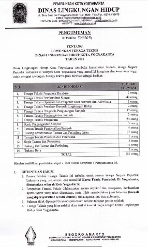 Hasil Seleksi Tes Kompetensi Dasar TKD Non PNS Pemprov Yogyakarta, Pengumuman Hasil Seleksi Tes Kompetensi Dasar TKD Non PNS Pemda Yogyakarta 2017