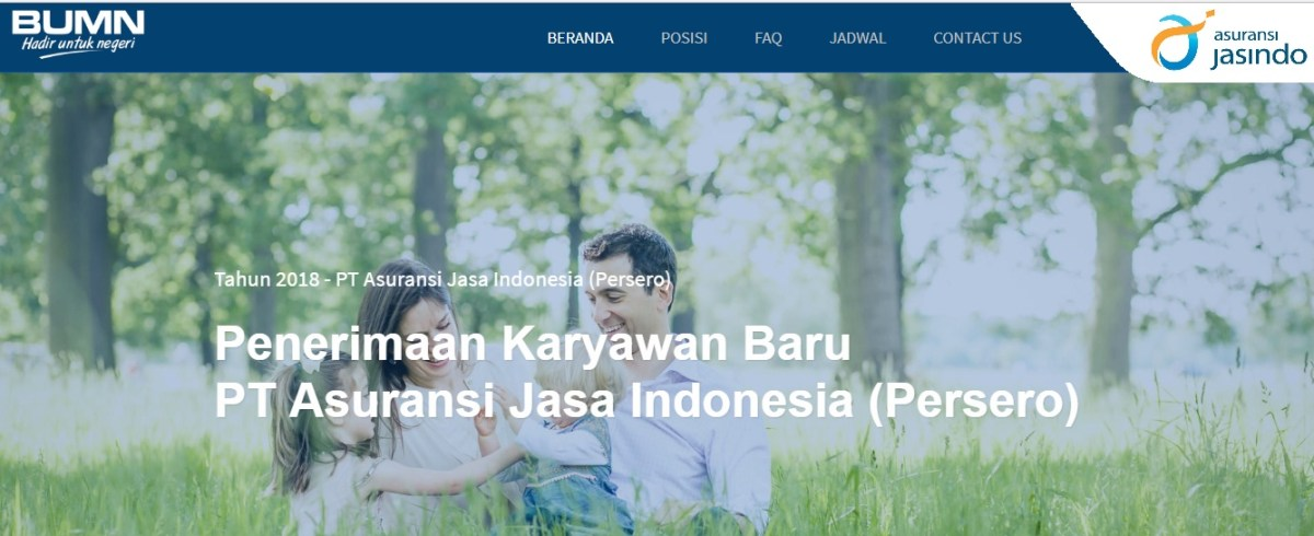 Lowongan kerja BUMN PT Asuransi Jasindo Tahun 2018