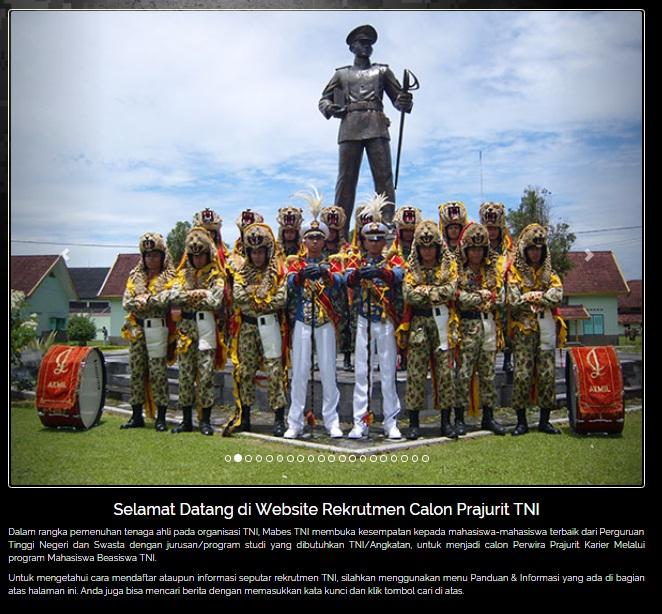 Penerimaan Calon Perwira Prajurit Karir TNI Tahun 2018, Pedaftaran Calon Perwira karir TNI jalur Umum