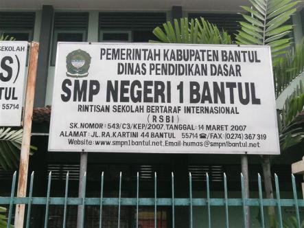 Daftar SMP MTS Negeri Swasta Terbaik Favorit Unggulan Kabupaten Bantul YOGYAKARTA JOGJA