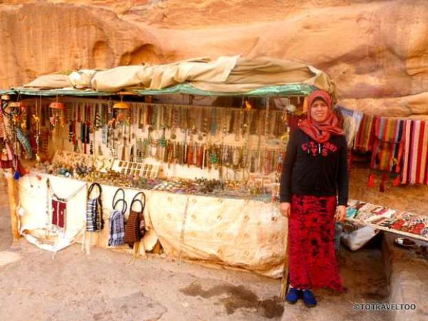 One of the many souvenir shops in Petra