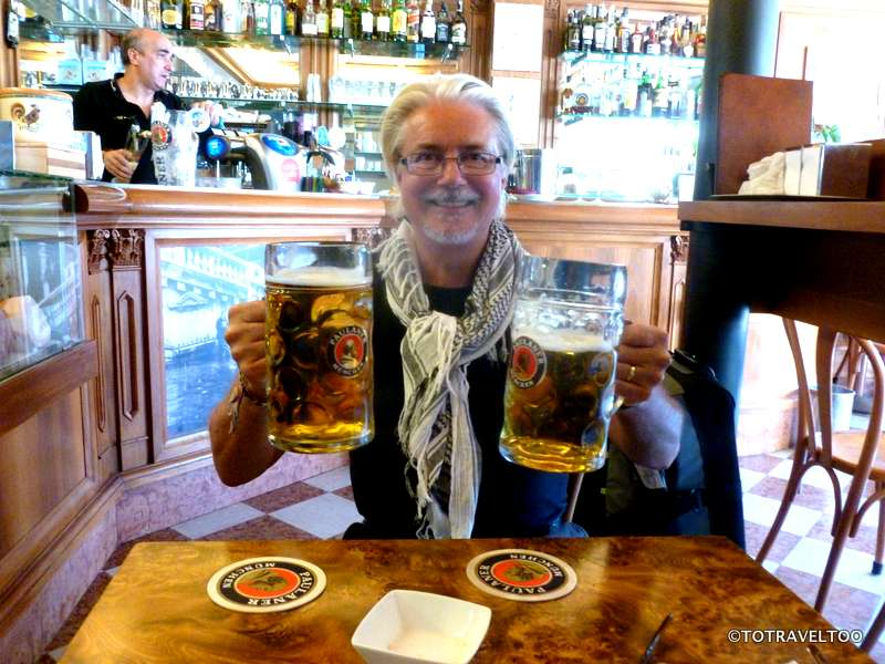 It takes a man to lift these two pints at once