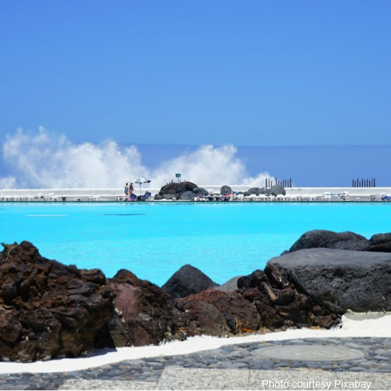 Salt water beach Tenerife
