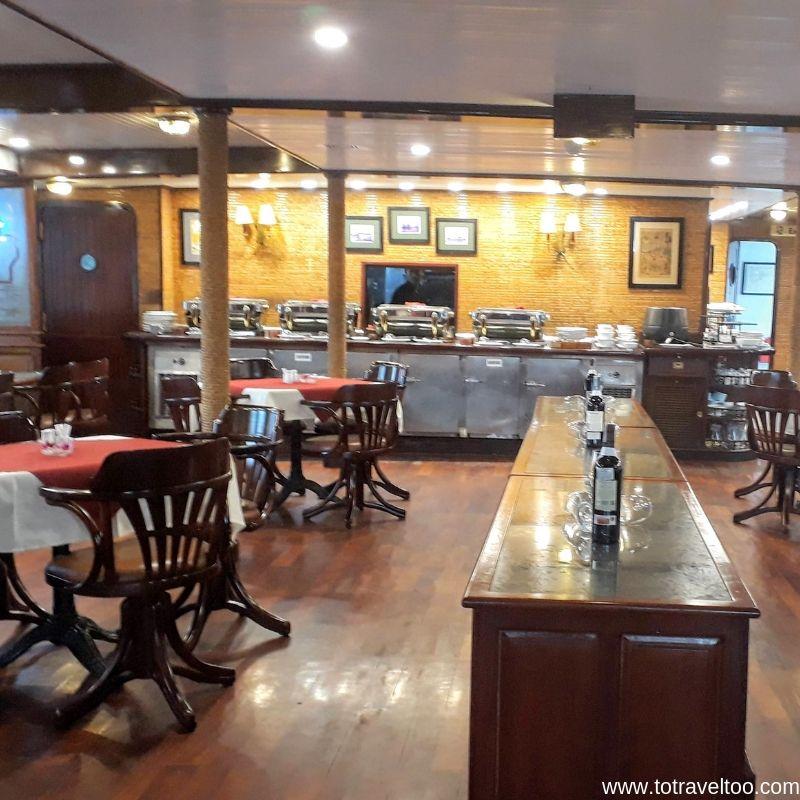 The Restaurant on Emeraude 2 night cruise on Halong Bay