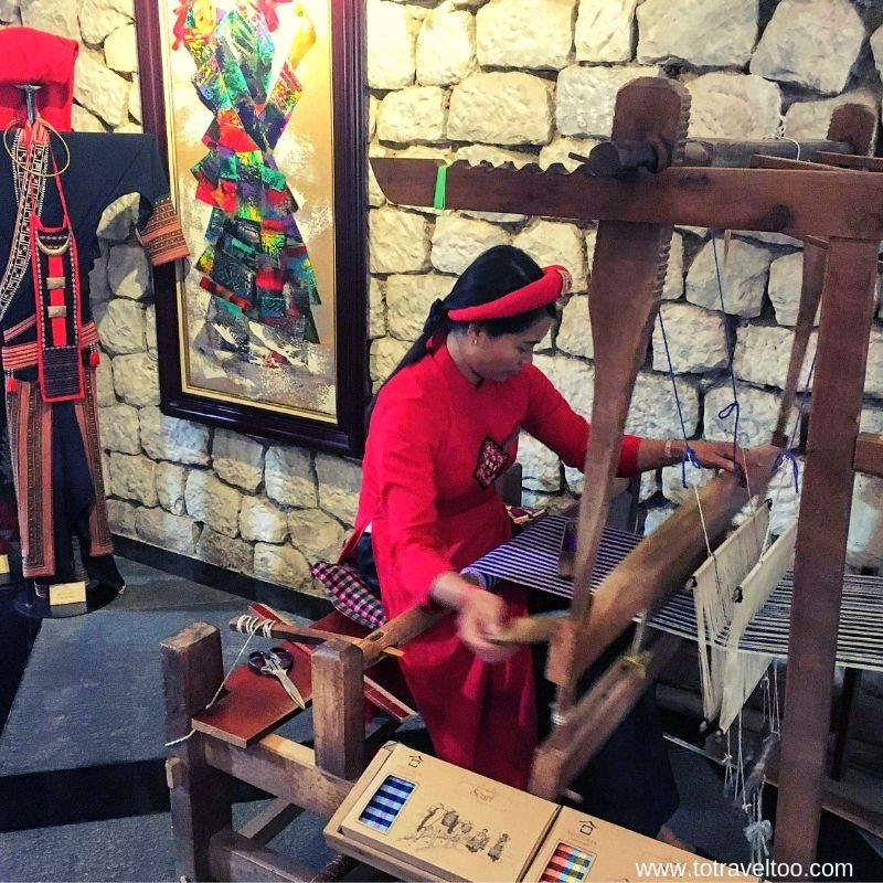 Local ladies weaving